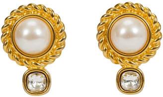 One Kings Lane Vintage Givenchy Pearl & Rhinestone Earrings
