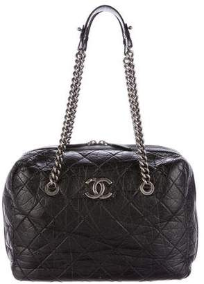 Chanel Quilted Large Secret Tag Bowling Bag