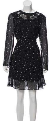 The Kooples Heart Print Knee-Length Dress w/ Tags