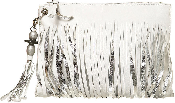 Leather Multi Strand Clutch