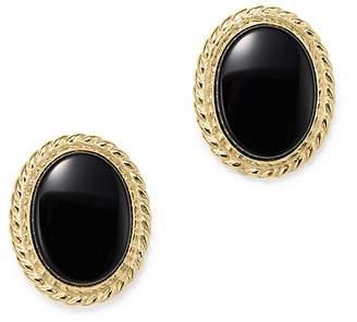 Bloomingdale's Onyx Bezel Set Small Stud Earrings in 14K Yellow Gold - 100% Exclusive