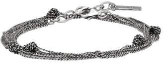 Saint Laurent Silver Knots Double Wrap Bracelet