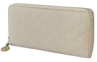 BEIGE Nicci Zipper Round Quilted Wallet