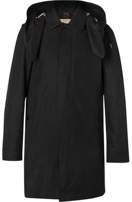 Burberry Cotton-Blend Gabardine Hooded Coat with Detachable Gilet - Black
