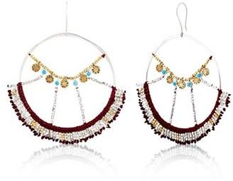 Women's Scosha Wonderland Mixed Metal & Turquoise Hoop Earrings $620 thestylecure.com