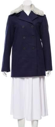 Kenzo Shearling-Accented Short Coat
