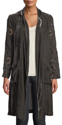 Johnny Was Ozzie Eyelet Velvet Duster Jacket