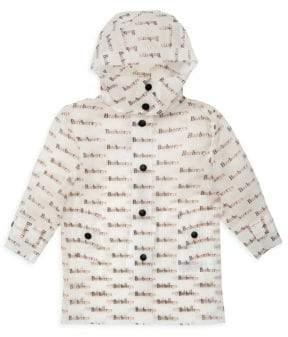 Burberry Baby Girl's& Little Girl's Bradley Logo Raincoat