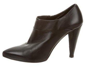 pradaPrada Leather Pointed-Toe Booties