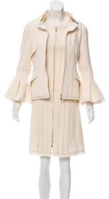 Chanel Fringe-Trimmed Wool Dress Set