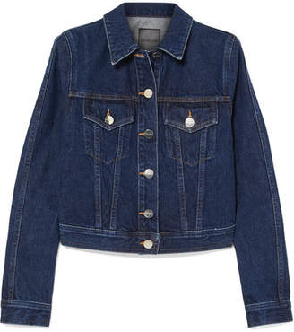 Gold Sign The Box Denim Jacket - Dark denim