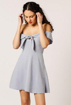 Azalea Off Shoulder Bow Mini Dress