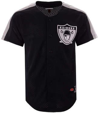 Mitchell & Ness Men Oakland Raiders Winning Team Mesh Button Front Jersey