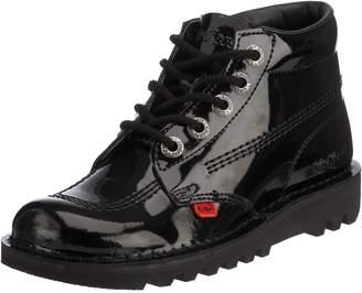 Kickers Womens Kick Hi Core Black Patent Patent Leather Shoes 40 EU