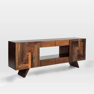 "west elm Reclaimed Wood Wedge Leg Console (83"")"