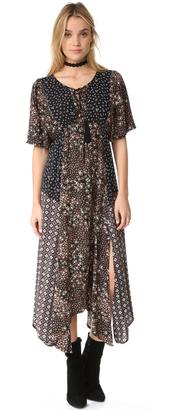 Ella Moss Patchwork Floral Dress $278 thestylecure.com