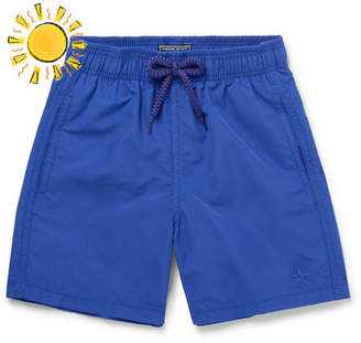 Vilebrequin Boys Ages 10 - 12 Jim Water-Reactive Shell Swim Shorts - Blue