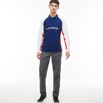 Lacoste Men's Texturized Stretch Cotton Chino Pants
