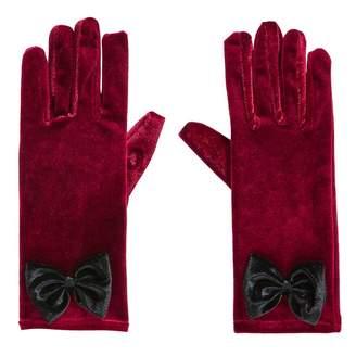 Joe Browns Red Alluring Velvet Bow Gloves
