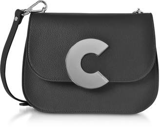Coccinelle Craquante Grained Leather Medium Crossbody Bag