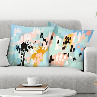 East Urban Home Annie Bailey 2 Piece Saturdays and Collisions Throw Pillow Insert Set East Urban Home