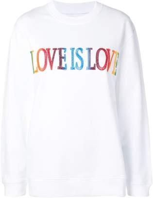 Alberta Ferretti 'Love is Love' sweatshirt