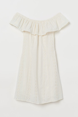 H&M Off-the-shoulder Dress - White