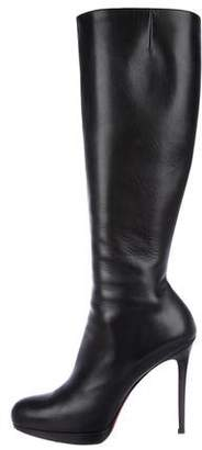 Christian Louboutin New Simple Botta 120 Leather Boots