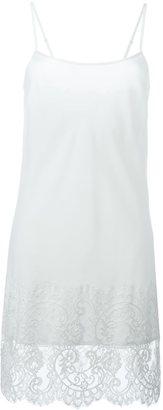 Twin-Set lace hem cami dress $148.99 thestylecure.com