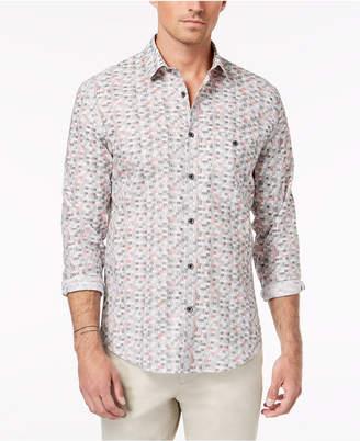 Alfani Men's Regular Fit Printed Shirt, Created for Macy's