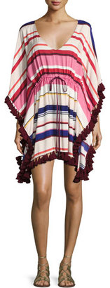 Kate Spade New York Striped Caftan Coverup With Tassel Trim $175 thestylecure.com