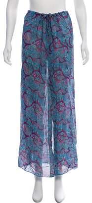 Malia Mills Paisley Printed Midi Skirt
