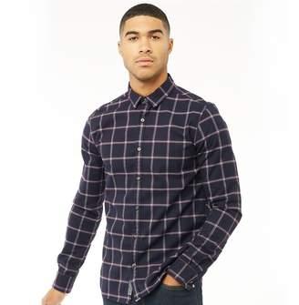 Superdry Mens Fine Flannel Long Sleeve Shirt Washington Navy Check