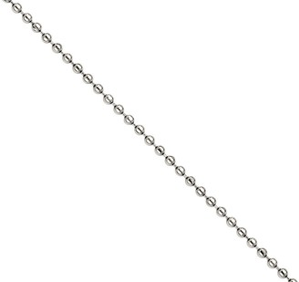 """Steel By Design Stainless Steel 30"""" 2.0mm Polished Bead Chain Necklace"""