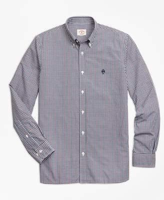 Brooks Brothers Yarn-Dyed Gingham Cotton Poplin Sport Shirt