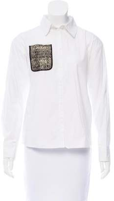 Tanya Taylor Long Sleeve Button-Up Top