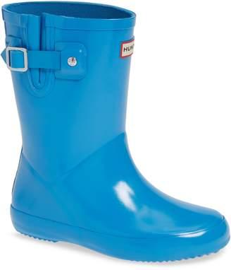 Hunter Flat Sole Gloss Waterproof Rain Boot