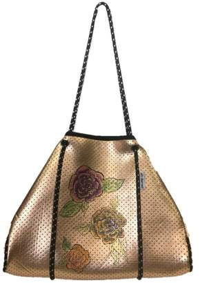 Ah-dorned Ah!Dorned Perforated Neoprene Tote With Hand Painted Roses