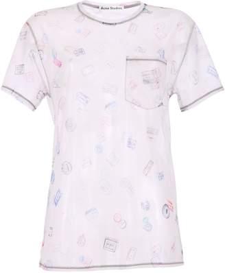 Acne Studios Beige Sheer T-shirt