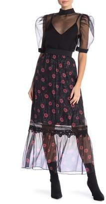 Anna Sui Crinkle Maxi Skirt
