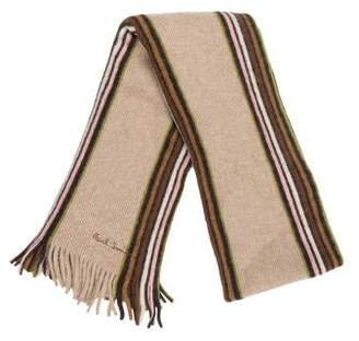 Paul Smith Wool and Angora Striped Scarf