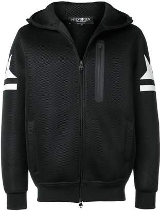 Hydrogen hooded zipped jacket