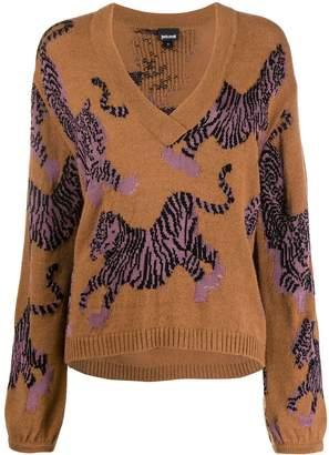 Just Cavalli tiger patterned jumper
