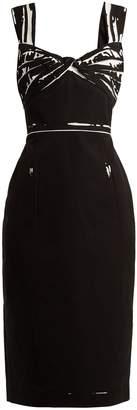Prada Overprinted-print cotton dress
