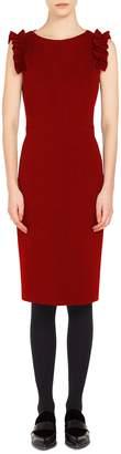 Akris Punto Ruched Shoulder Dress