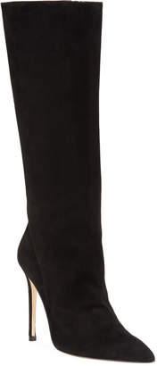 Alexandre Birman Porto Suede Pointed-Toe Boot, Black