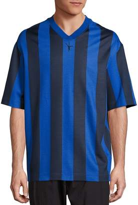 Alexander Wang Men's Striped Soccer Jersey