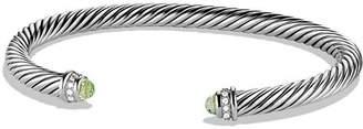 David Yurman Cable Classics Bracelet with Prasiolite & Diamonds