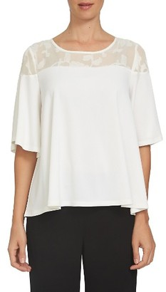 Women's Cece Floral Coupe Yoke Top $69 thestylecure.com