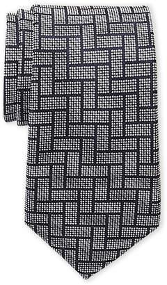 MICHAEL Michael Kors Rectangular Weave Slim Silk Tie